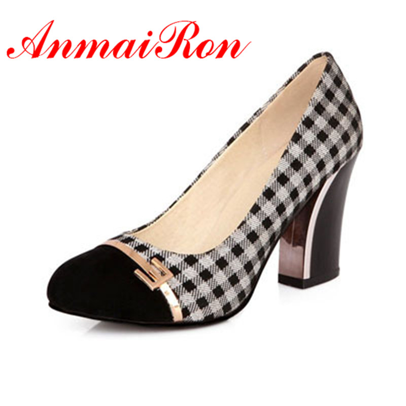 ANMAIRON Women Pumps New Autumn High Heels Shoes Sexy Retro Platform 8cm Princess Thin Heels Single Shoes Hot Sale Big Size34-42 anmairon shallow leisure striped sandals women flats shoes new big size34 43 pu free shipping fashion hot sale platform sandals
