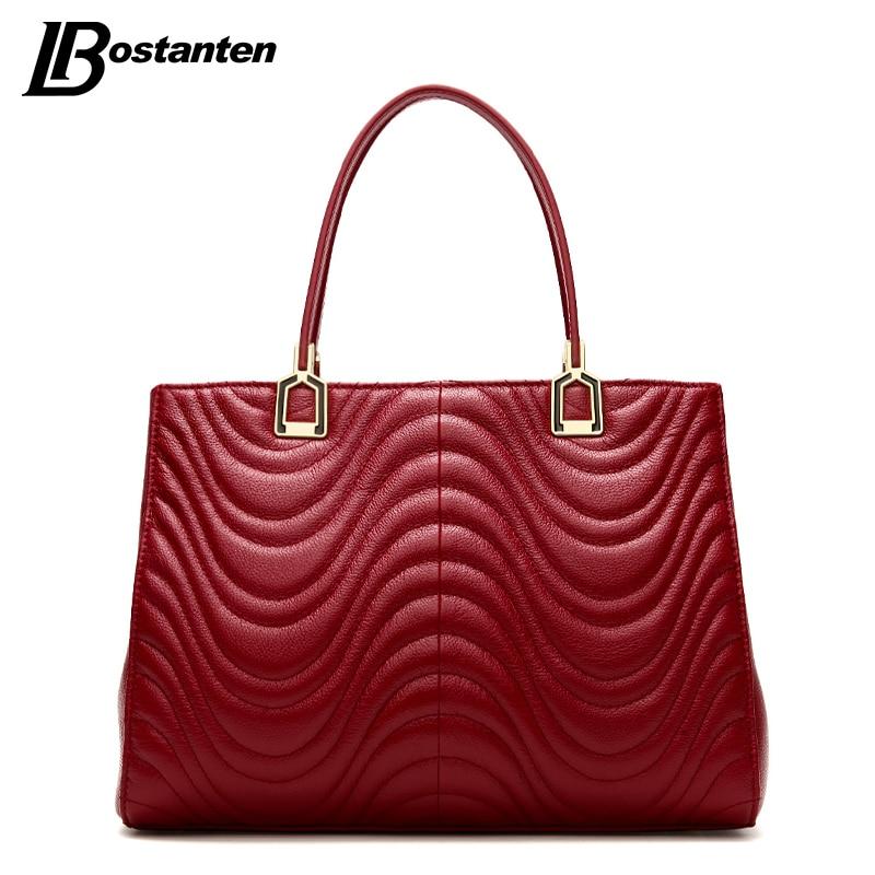 BOSTANTEN Luxury Handbags Women Bag Designer Women Leather Handbags Genuine Leather Bags Women Crossbody Bag Hot Bolsos Mujer