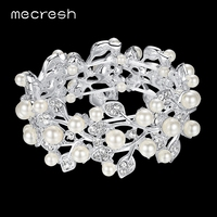 2016 New Arrival Leaf Simulated Pearl Bridal Bracelet For Women Wedding Accessories SL142