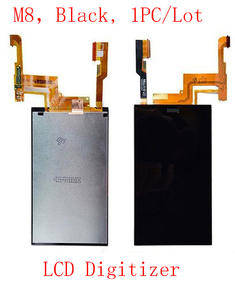 (HT201M8B01AM)(1PC/Lot by AM)100% Top Quality LCD Touch Screen Digitizer Assembly for HTC One M8 Black