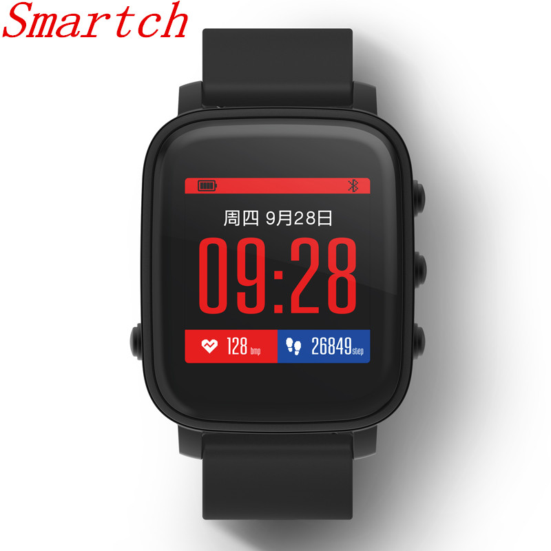Smartch SMA TIME Wristband 1 28 Inch LCD Screen 40 Days Long Standby Camera Health Tracker