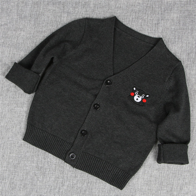 Spring Autumn Baby Knitted Sweater For Girls Boys Long Sleeve Button Cardigan Coat Children Clothing Sweaters AS-1576-3