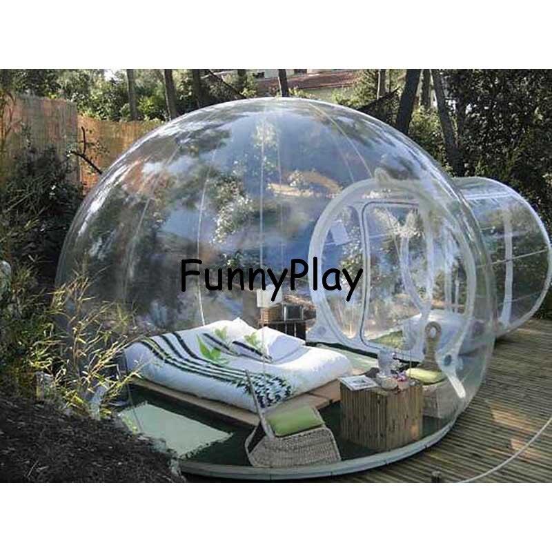 Надувной пузырь шатра дерева, надувные показать дом famaily на заднем дворе Кемпинг Палатки, 0.45 мм ПВХ carpas де Кемпинг 4 персоны комнаты