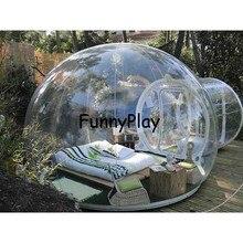Надувной пузырь шатра дерева, надувные показать дом Famaily дворе палатки, 0,45 мм ПВХ carpas де Кемпинг 4 персоны комнаты