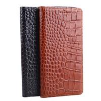 Hot Genuine Leather Crocodile Grain Magnetic Stand Flip Cover For BlackBerry Priv Luxury Mobile Phone Case