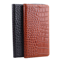 Genuine Leather Crocodile Grain Magnetic Stand Flip Cover For Microsoft Nokia Lumia 640 XL Luxury Mobile
