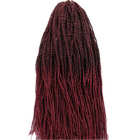 Pervado Hair 6 Packs 22inch Synthetic Micro Senegalese Twist Crochet Braids Hair Extensions 30Roots Pack Brown