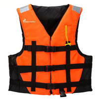 Adult Polyester Swimming Life Jacket New Size Professional Life Vest For Fishing Swimming Boating Drifting With