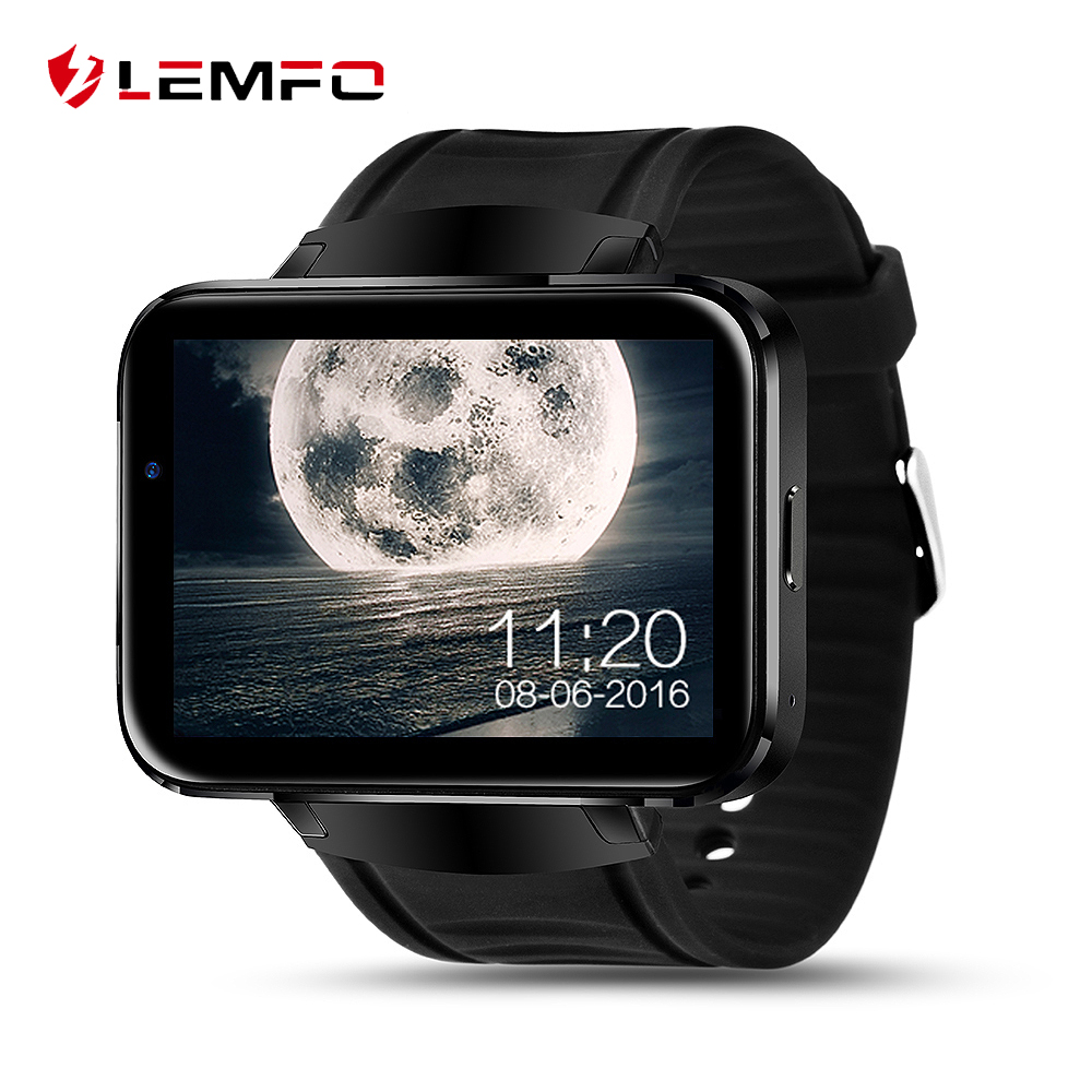 LEMFO LEM4 Bluetooth Smart Watch 2.2 inch Android OS 3G Smartwatch Phone MTK6572 Dual Core 1.2GHz 512MB+4GB GPS Men Wirstwatch jiake f1w 5 0inch capacitive touch screen mtk6572 dual core 1 2ghz smartphone 512mb 4gb 2 0mp 0 3mp android 4 2 os 3g gps with protective case black