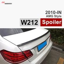 MERCEDES CLASSE E W212 AMG ESTILO FIBRA de CARBONO PRETO BRILHANTE TRONCO SPOILER PARA 2010-2015 BENZ E200 E260 E300 E400