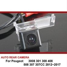 Dla Peugeot 3008 301 308 408 508 307 307CC 2012 ~ 2017 Night Vision tylna kamera cofania kamera cofania HD CCD kamera samochodowa