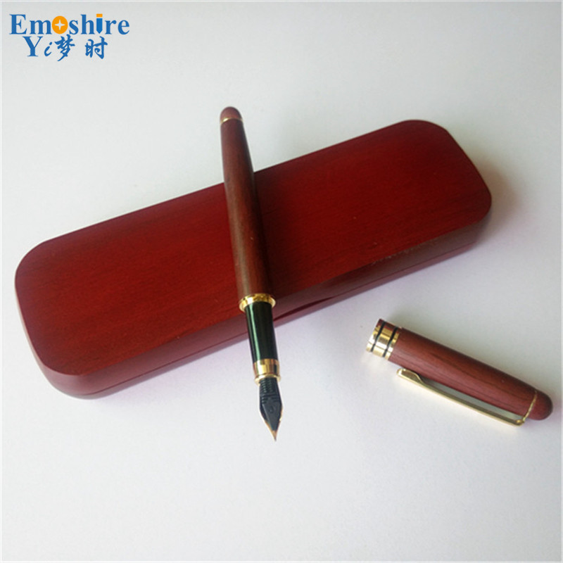 цены Advertising Natural Creative Statoinery Wood Fountain Pen with Wooden Pencil Case Suit for Students Birthday Gifts  P058