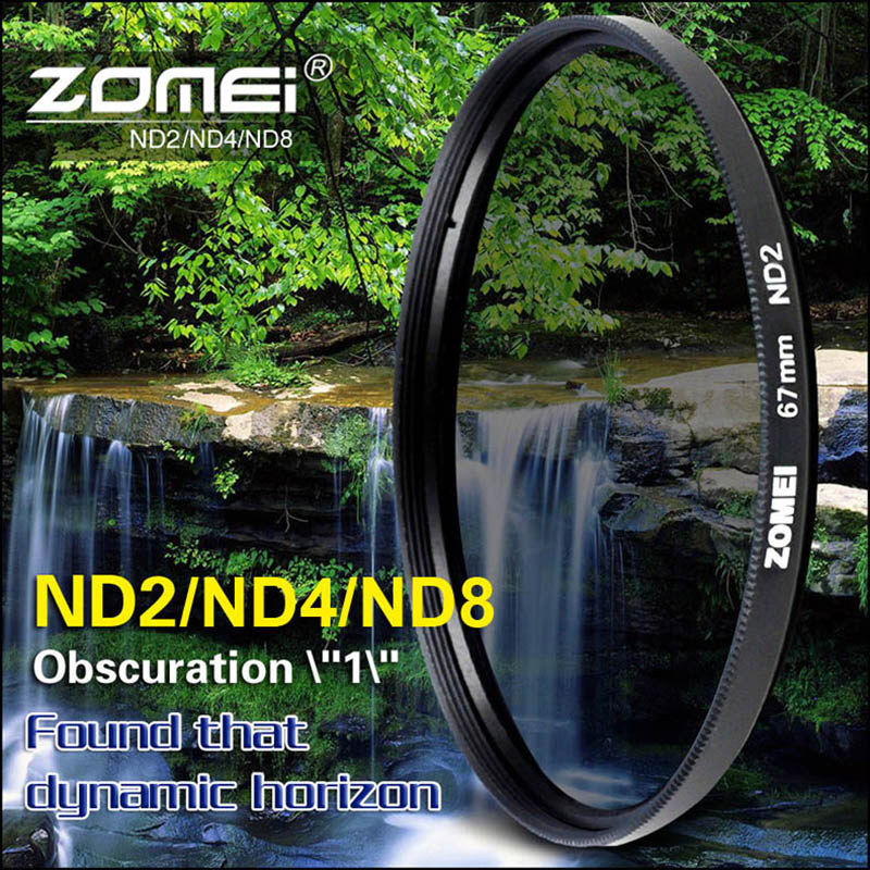 ZOMEI 52mm 55mm 58mm 62mm 67mm 72mm 77mm 82mm Neutral Density ND2 ND4 ND8 ND Filter for Canon Nikon Olympus Pentax Hoya Lens