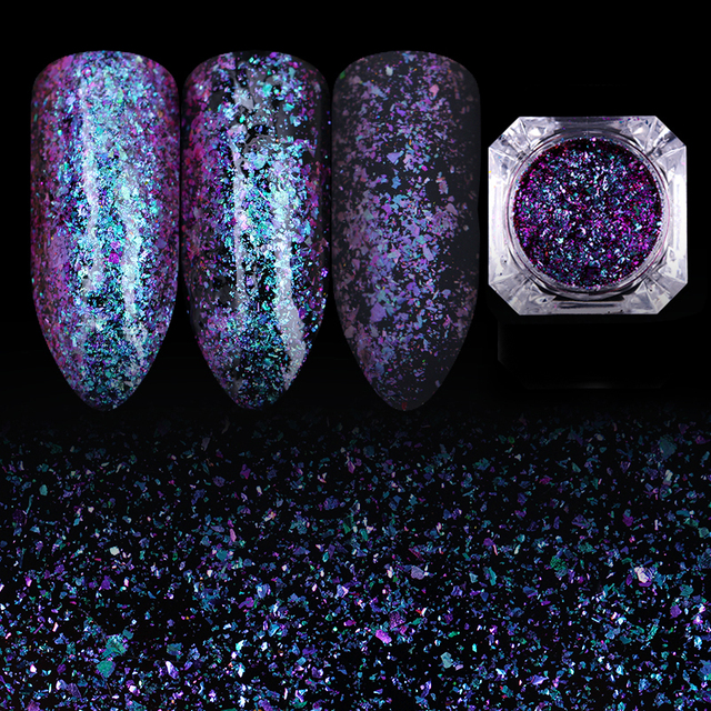 Born Pretty Chameleon Flakes Starry Sky Nail Art Paillette Sparkly