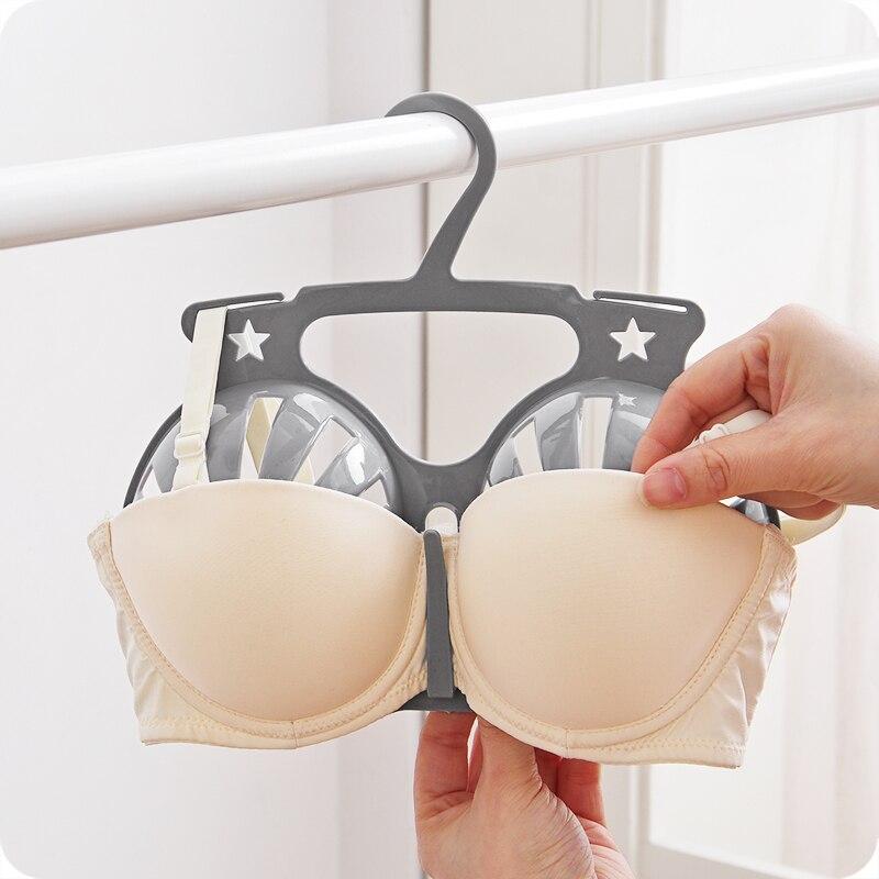f1a0286c4ad1e Outdoor bra storage rack Anti deformation underwear drying rack Balcony  drying bra hangers Woman underwear storage rack-in Storage Holders   Racks  from Home ...