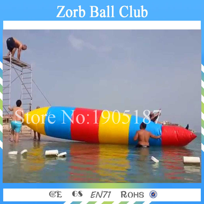 Free Shipping 0.9mm PVC tarpaulin 6x2m inflatable water blob, Inflatable Blob jumping стоимость