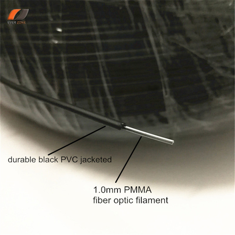 Image 2 - وأشار ضوء لا الأشعة فوق البنفسجية و الأشعة تحت الحمراء 2.0 ملليمتر PMMA البلاستيك البصرية الألياف نهاية الكابلات المضيئة 500 متر/لفة في الهواء الطلق و تحت الماء أفضل حلfiber optic lighting cableplastic fiber optic cableplastic optical fiber cable -