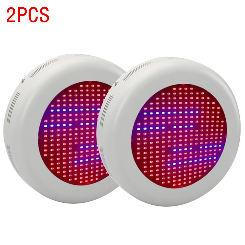 2PCS UFO 300W Full Spectrum Led Grow Light Hydroponics indoor Plant Lamp Ideal for All Phases of Plant Growth and Flowering 90w ufo led grow light 90 pcs leds for hydroponics lighting dropshipping 90w led grow light 90w plants lamp free shipping