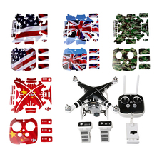 Waterproof DJI Phantom 3 Decals Graphic Wrap Skin Decal Stickers for DJI phantom3 Drone body +remote control+battery accessories 2x intelligent flight battery 4s 15 2v 4500mah for dji phantom 3 series accessories battery for dji phantom 3