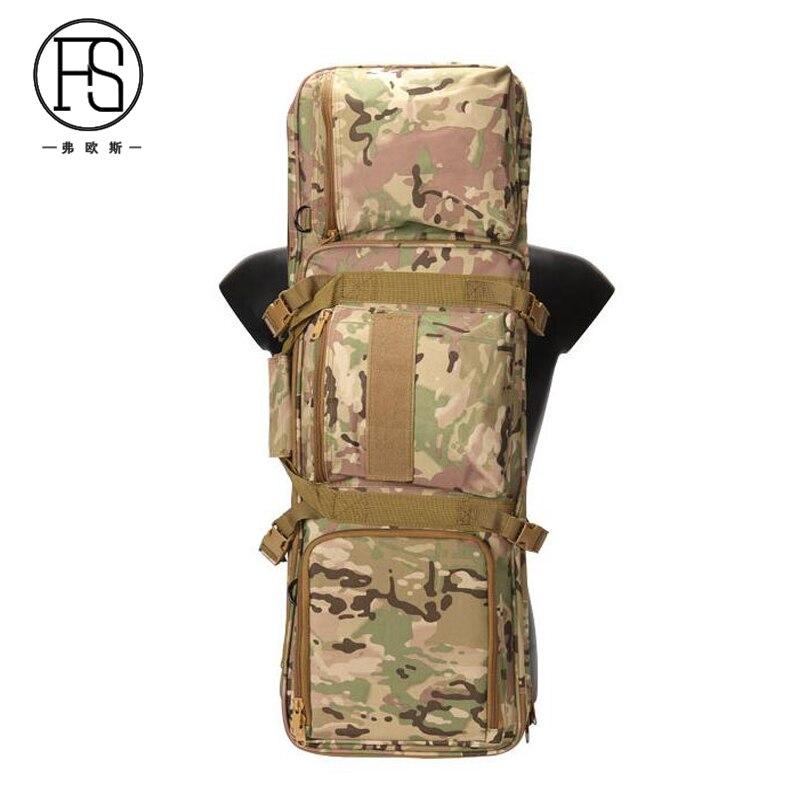 Environ 100L 85 cm Sport de plein air escalade sac à bandoulière Camping randonnée sac à dos tactique chasse fusil Protection sac