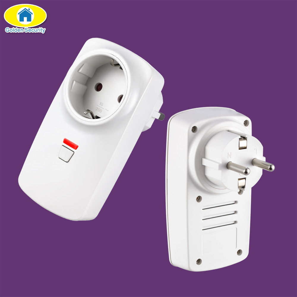Golden Security Wireless Remote Control Smart Wireless Socket Adapter Switch Plug Outlet For Wifi GSM Alarm System G90B Plus