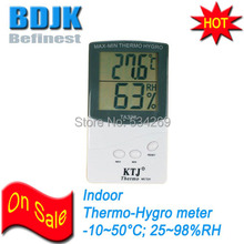 Digital Thermometer and Hygrometer with Gussets Behind Temperature & Humidity Test Instrument