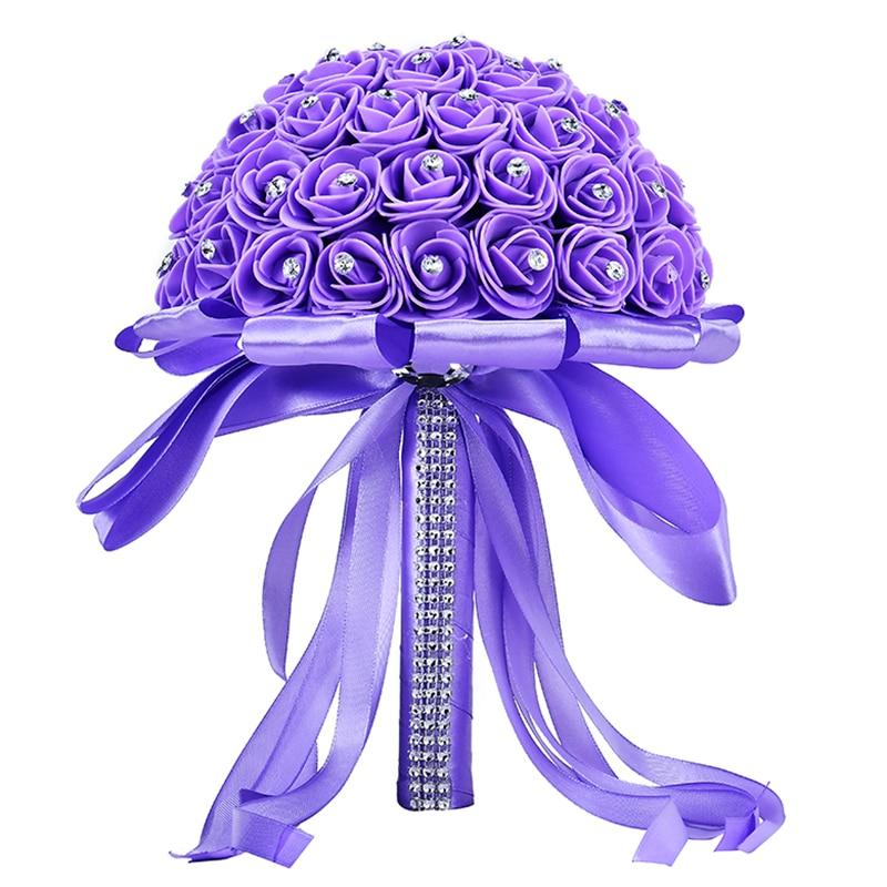 Bridal Bouquet Wedding-Accessories Ramos-De-Novia Flower Rose Artificial Handmade
