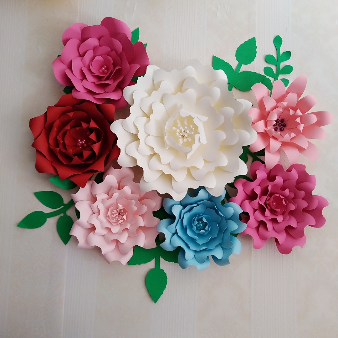2018 Giant Paper Flowers Large Half Made Rose Flower Kits