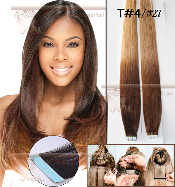 Slap Up Diy 40 Pieces Remy Tape Hair Extensions Ombre 427 Pu Skin