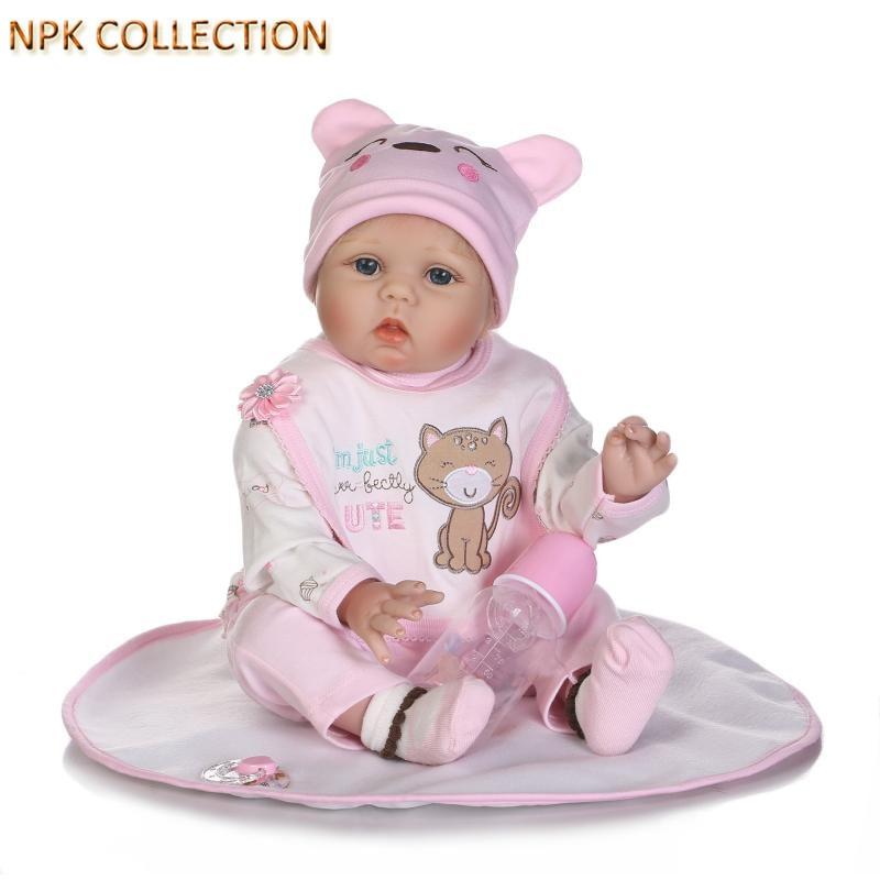 NPKCOLLECTION 50CM Real Dolls Silicone Reborn Dolls Baby Alive Soft Toys for Children Playmate,Realistic Silicone Newborn Dolls цены онлайн