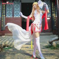 UWOWO Game Sword Art Online Asuna Cosplay Costume Women Sexy Cheongsam Costume Dress Full Set