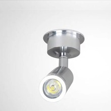 DC12V 10pcs/lot New Led Mini Counter Jewelry Lights Spot Downlight 3w Cabinet Lamp Wall Light DC12V Include Led Driver