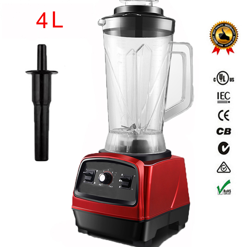 2800W 3.3HP BPA FREE 4L Commercial Professional Smoothies Powerful Blender Food Mixer Juicer With German Motor