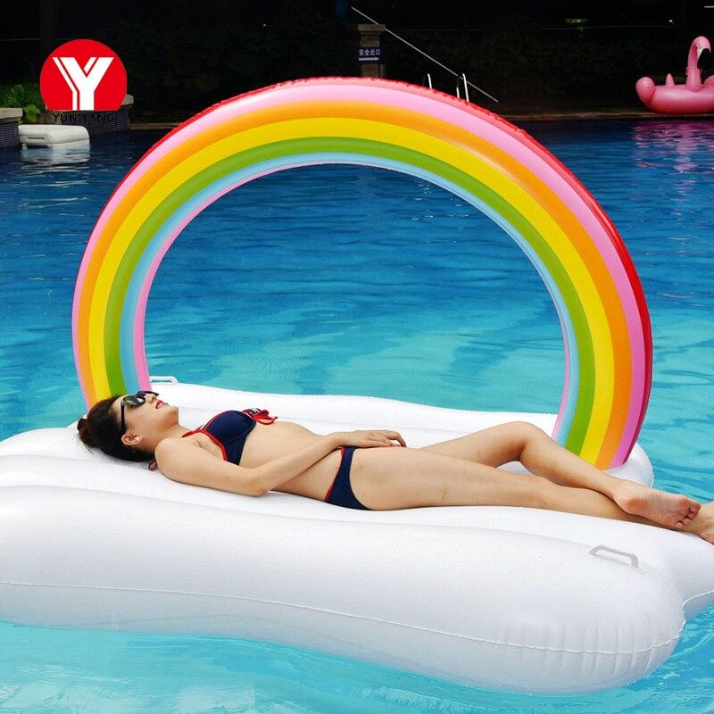 Гигантский надувной бассейн надувной поплавок Радуга облако float пляж вечерние надувной поплавок для воды в бассейне Плавание кольцо вечерн...