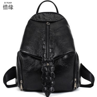 New 2017 100% Real Soft Genuine Leather Women Backpack Woman Korean Style Ladies Strap Laptop Bag Daily Backpack Girl School red luyo 100% soft genuine leather women backpack for girls youth woman ladies laptop bag daily backpack school sac a dos travel