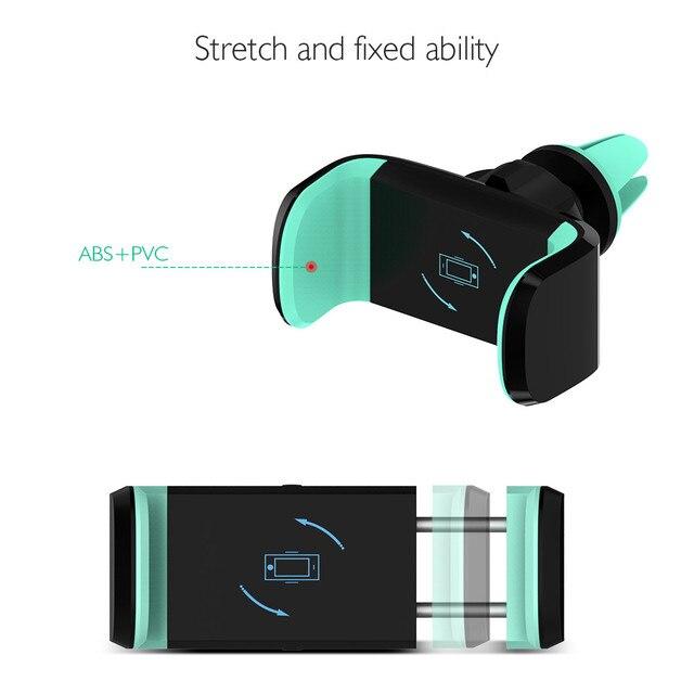 CASEIER Car Phone Holder For Mobile Phone Universal Air Vent + Dashboard Windshield 2 in 1 Car Holders Stand telefon tutucu 1