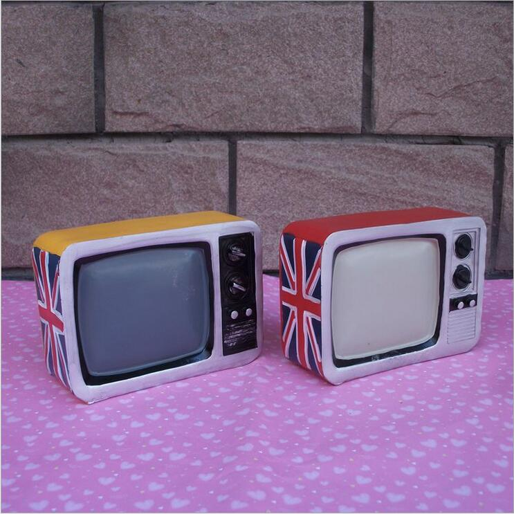 retro tv piggy bank home decoration child gift old fashioned television set barber shop. Black Bedroom Furniture Sets. Home Design Ideas