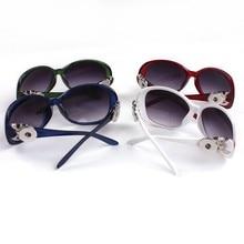 3pcs/lot colors 2017 Orologio Uomo Sunglasses Women Fashion Retro 18mm Snap Button Glasses Sunglasses Goggles one direction