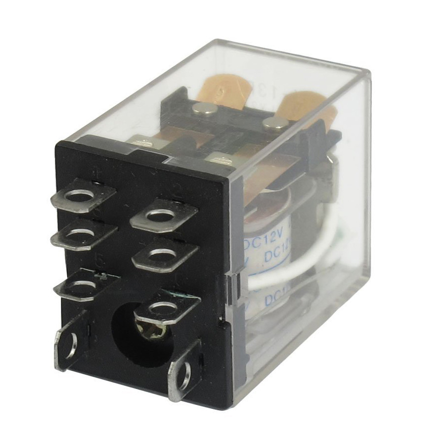 Jqx 13f Ly2 Dc 12v Coil 8 Pin Dpdt Green Led Electromagnetic Relay
