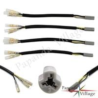 4 pçs motocicleta sinal de volta oem indicador conectores fiação plug adaptadores para yamaha yzf r6 r1 r3 r6s fz6 fzs6 fz1 250 500 600 adapter plug -