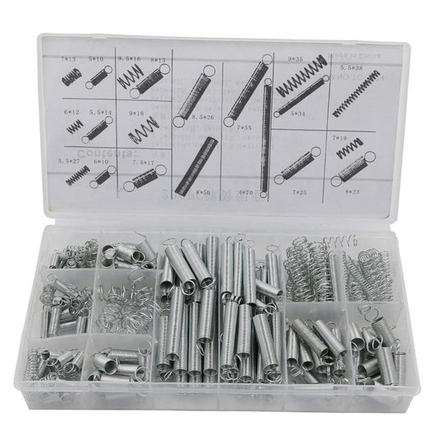 Scatola di 200 pz Piccolo Metallo Allentato In Acciaio Fixmee Coil Springs Assortimento Kit Assortiti