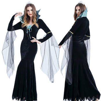 Halloween European Court Vintage Dress Restoring Ancient British Noble Queen Cosplay Disfraces Role Play Female Dress