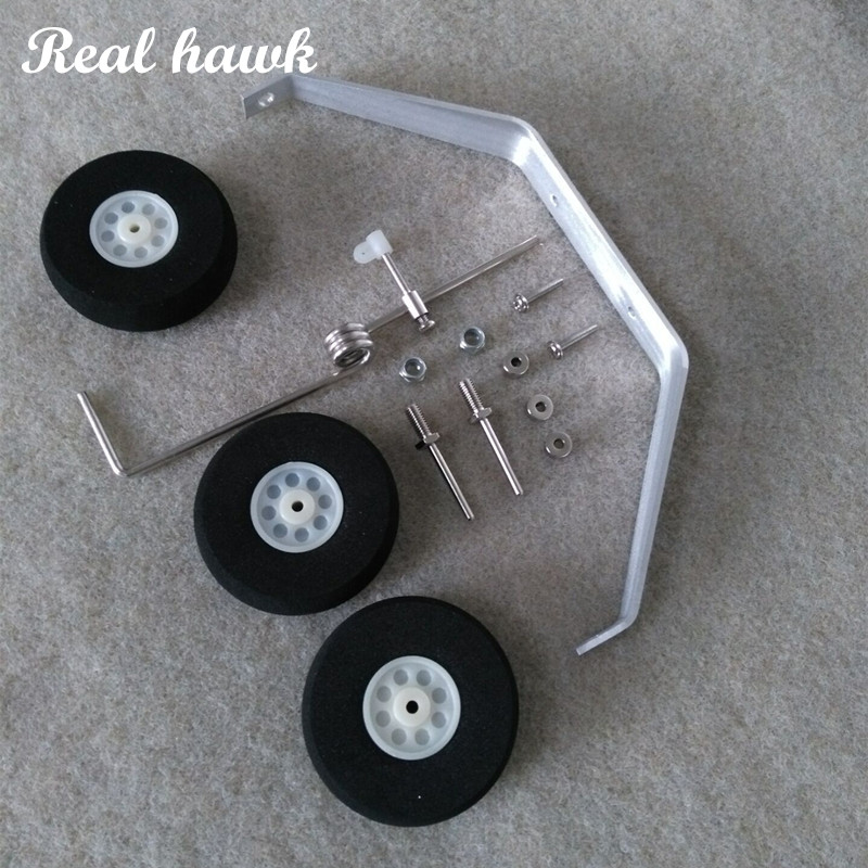 Aluminum Main Landing Gear Wheel Kit RC Airplane Cessna 182 (1200mm) Parts Replacement 40 Size ARF PNP free shipping