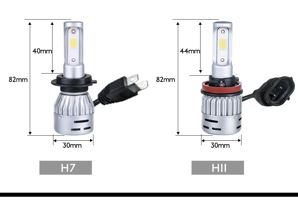 VooVoo 2PCS H4 H7 LED Car Light 72W 8000Lm 9005 9006 H11 4300K 3000K 8000K Car headlights 12V Car Near And Far Lamps Lighting (21)