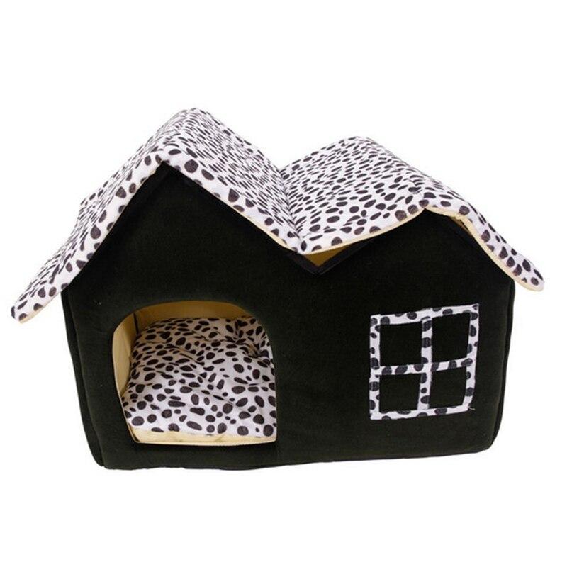 Más el Tamaño de la Casa de Perro Plegable Cama Del Perro Casa Grande Con la Estera pp algodón gatos casa idepet marca mascotas producto cama de perro gw0107