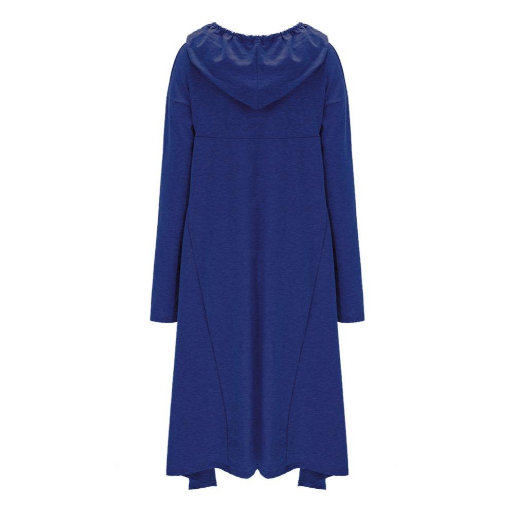 Preself Oversize Sweter Z Kapturem Bluza Kobiety Hoody Blaty Kobiet Luźna Z Długim Rękawem Płaszcz Z Kapturem Na Co Dzień Znosić Pokrywa Swetry Ubrania 18