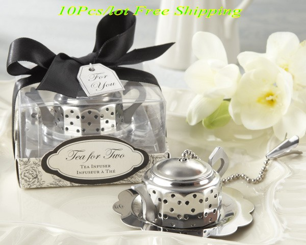 10 Pieces Lot Whimsical Wedding Gifts Of Teapot Tea Infuser Favors For And Party Themed Bridal In From Home