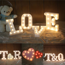 A-Z Alphabet Letter LED Light White Up Decoration Symbol Indoor WALL Wedding Party Window Display