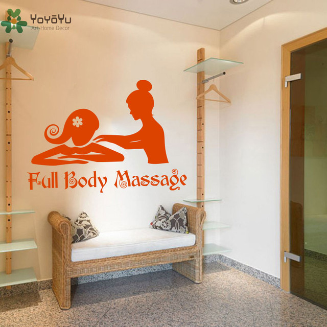 meisjes schoonheidssalon muurstickers citaten full body massage muurtattoo spa moderne ontwerp art mural fashion interieur decor
