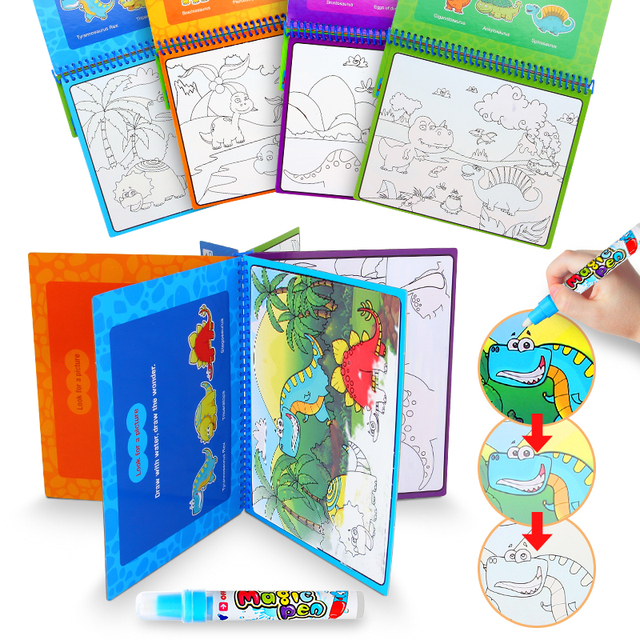 Aliexpress.com : Buy DODOELEPHANT Magic Coloring Books For Kid Water ...